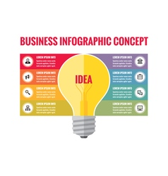 Infographic business concept - creative idea vector image