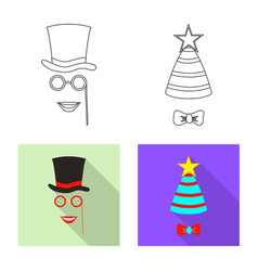 isolated object of party and birthday icon set of vector image