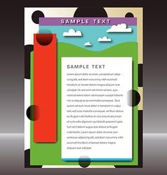 landscape page template vector image