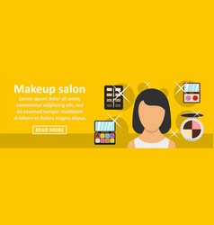 makeup salon banner horizontal concept vector image