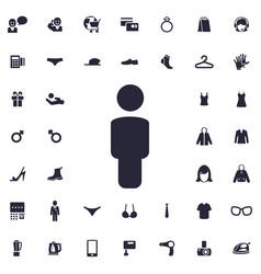Male icon vector