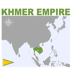 Map khmer empire vector