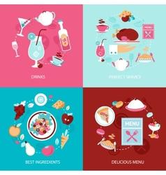 Menu restaurant set vector image