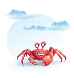 Merry crab vector