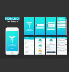 Mobile app doctor consultation online material vector