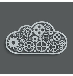 modern mechanism computing cloud concept vector image