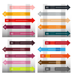 Modern strips infographics x options banner for vector