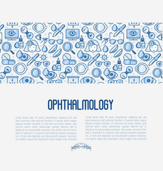 Ophthalmology concept with vision care vector