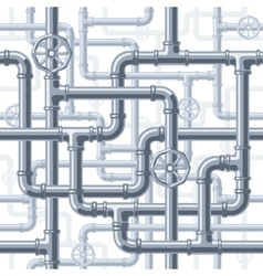 Pipes on white vector image