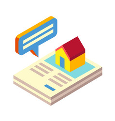 Property detail isometric vector