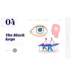 Psychology medicine consciousness landing page vector