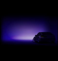 realistic elegant dark luxury car banner template vector image