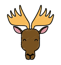 reindeer animal cartoon vector image
