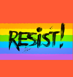 resist word lettering vector image