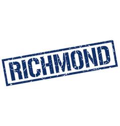 Richmond blue square stamp vector