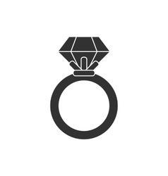 Ring black and white colors vector