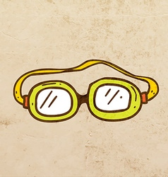 Safety Glasses Cartoon vector image