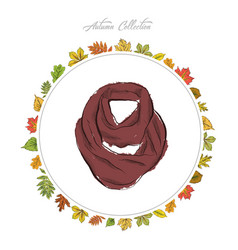 scarf hand draw accessories autumn collection vector image