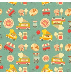 Seamless background ice cream vector