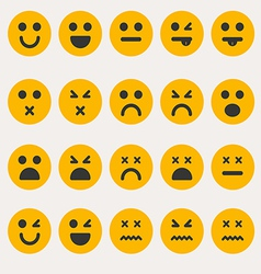 Set smileys emoticons vector image