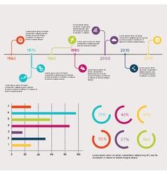 Set timeline infographic design templates vector