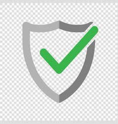 Shield check mark logo icon vector