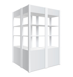 Showcase display retail shelf rack vector