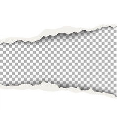 Snatched middle of white paper with torn edges vector