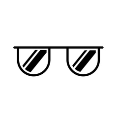 sunglasses accessory isolated icon vector image