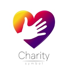Symbol of Charity Sign hand vector