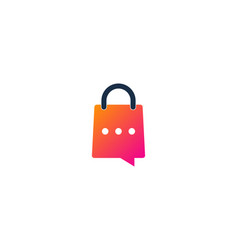 talk shopping logo icon design vector image