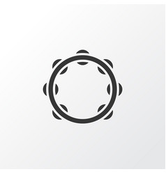 tambourine icon symbol premium quality isolated vector image