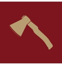 The ax icon Axe symbol Flat vector