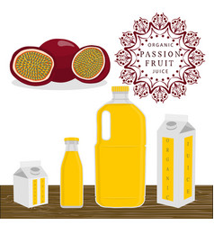 The theme passion fruit vector