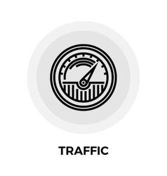 Traffic Line Icon vector image