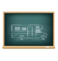 trailer drawn on blackboard vector image