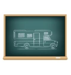 Trailer drawn on blackboard vector