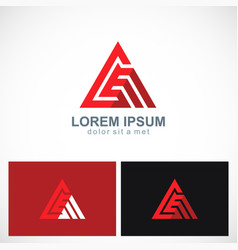 triangle abstract line pyramid business logo vector image