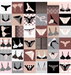Underwear background vector image