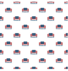 usa veterans day pattern seamless vector image