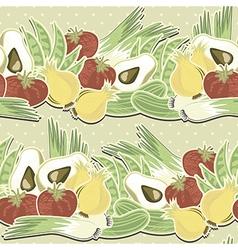 Vegetable polka dot seamless pattern vector image