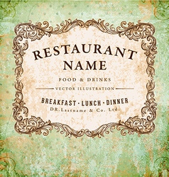 Vintage Restaurant Sign vector