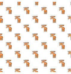 Wild elk pattern seamless vector