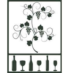 winery design objects vector image