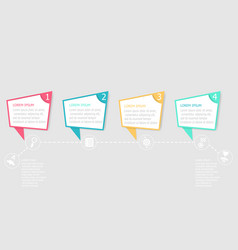 abstract timeline infographic background vector image