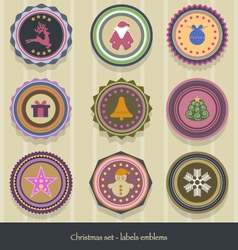 Christmas-labels vector image