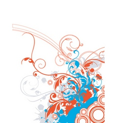 floral graphic border vector image vector image