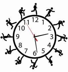 time illustration vector image vector image