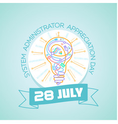 28 july system administrator vector image vector image