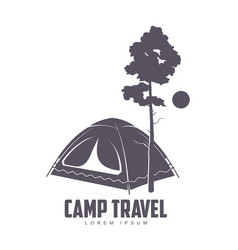 camping logo template vector image